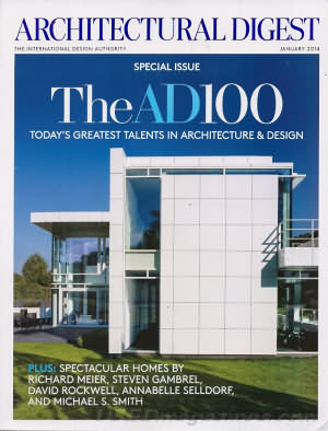 Architectural Digest January 2014