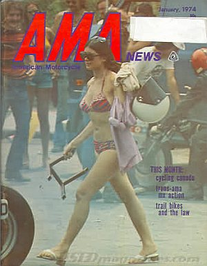 American Motorcycle Association News January 1974