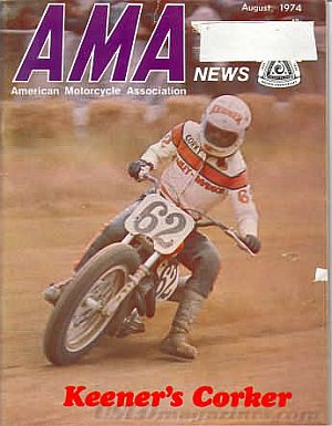 American Motorcycle Association News August 1974