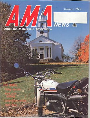American Motorcycle Association News January 1975
