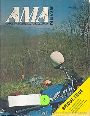 American Motorcycle Association News August 1976