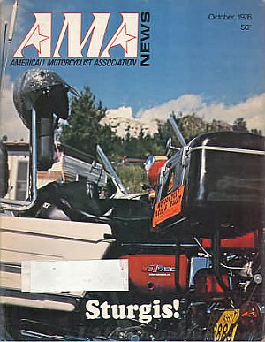American Motorcycle Association News October 1976