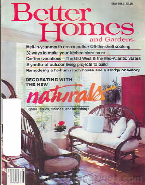 Better Homes and Gardens May 1981