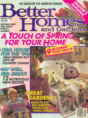 Better Homes and Gardens March 1989