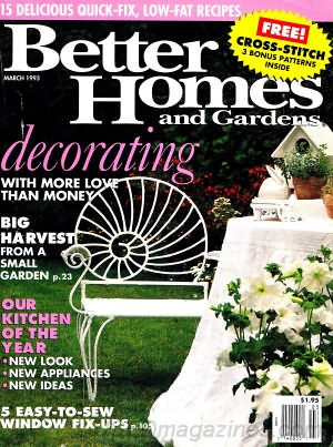 Better Homes and Gardens March 1993