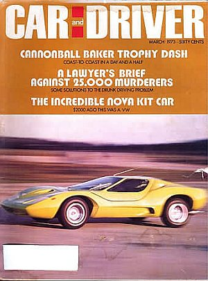 Car and Driver March 1973