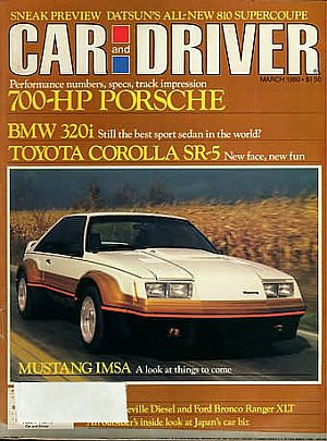 Car and Driver March 1980