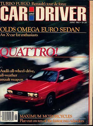 Car and Driver June 1982