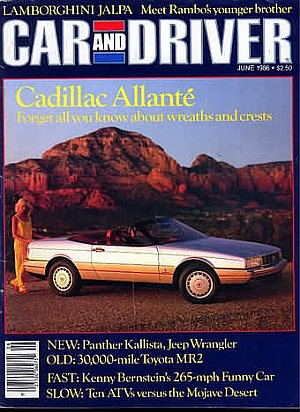 Car and Driver June 1986