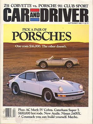 Car and Driver September 1988