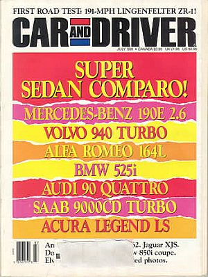 Car and Driver July 1991