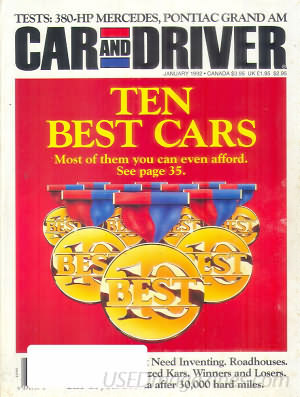 Car and Driver January 1992