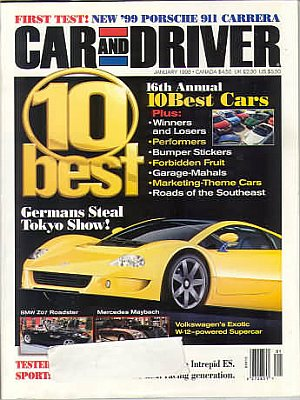 Car and Driver January 1998