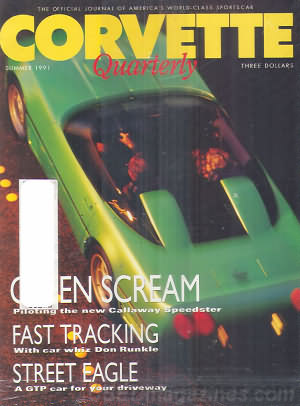 Corvette Quarterly Summer 1991