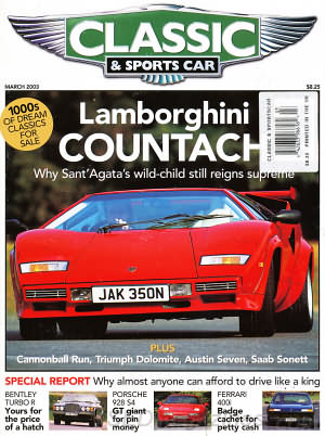 Classic and Sports Car March 2003
