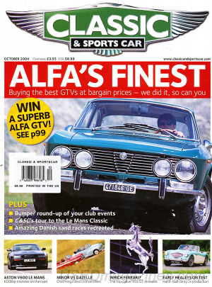 Classic and Sports Car October 2004