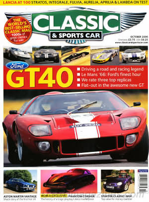 Classic and Sports Car October 2006