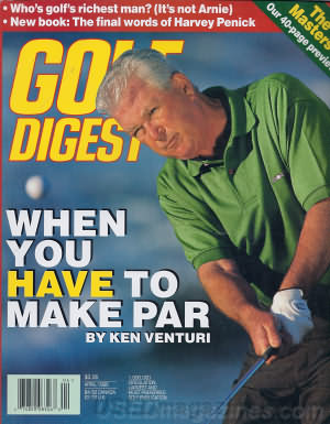 Golf Digest April 1996