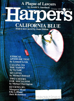 Harper's Magazine October 1976
