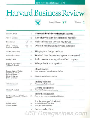 Harvard Business Review January/February 1987