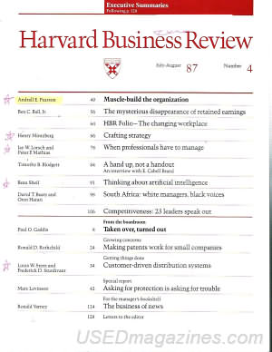 Harvard Business Review July/August 1987