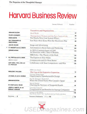 Harvard Business Review January/February 1989