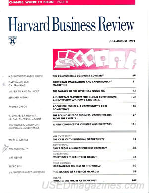 Harvard Business Review July/August 1991