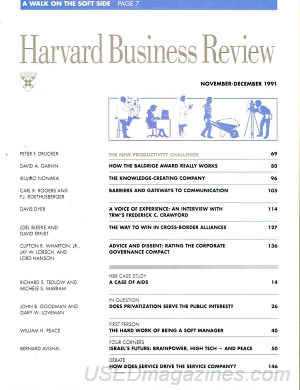 Harvard Business Review November/December 1991