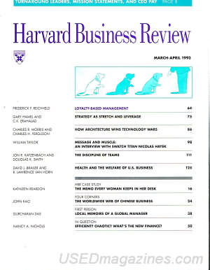 Harvard Business Review March/April 1993