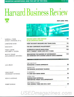 Harvard Business Review May/June 1994