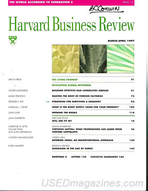 Harvard Business Review March/April 1997