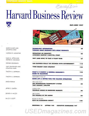 Harvard Business Review May/June 1997