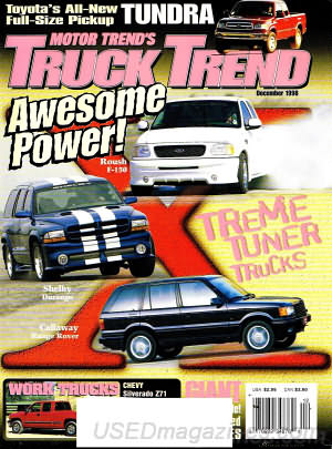 Motortrend Truck Trends December 1998