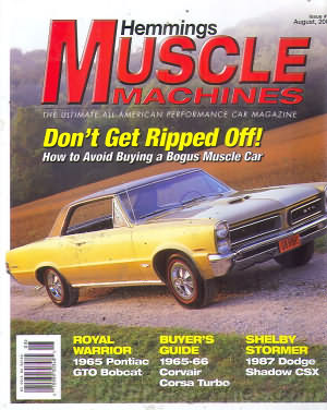 Muscle Machines August 2004