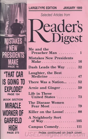 Reader's Digest Large Print January 1989