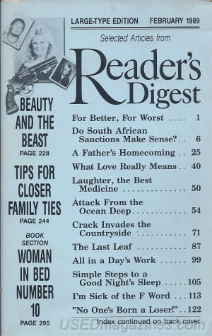 Reader's Digest Large Print February 1989