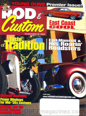 Rod & Custom June 2003