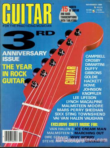 Guitar For the Practicing Musician November 1986