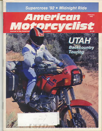 American Motorcyclist February 1992