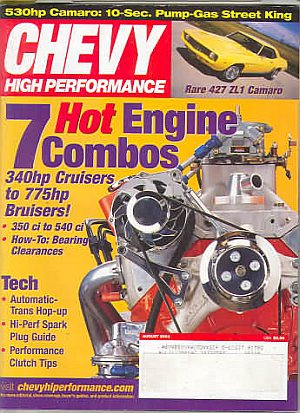 Chevy High Performance August 2003