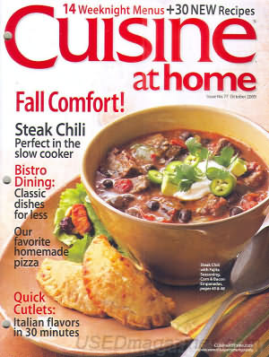 Cuisine at home October 2009