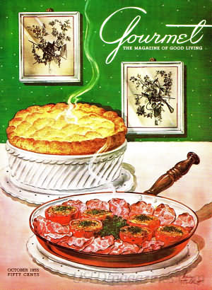 Gourmet October 1955