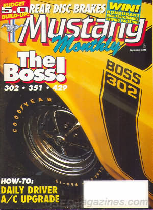Mustang Monthly September 1991