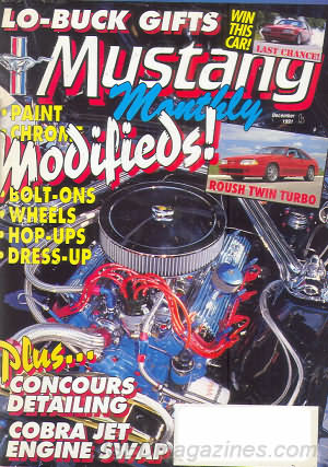 Mustang Monthly December 1991