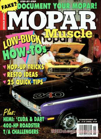 Mopar Muscle October 1991