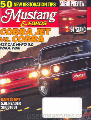 Mustangs & Fords March 1993