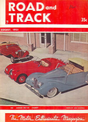 Road & Track August 1951