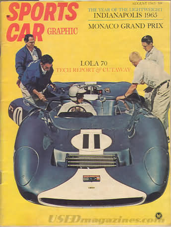 Sports Car Graphic August 1965